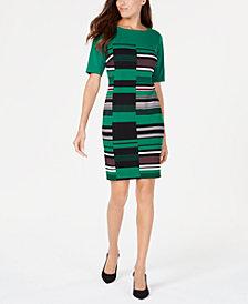 Alfani Printed Sheath Dress, Created for Macy's