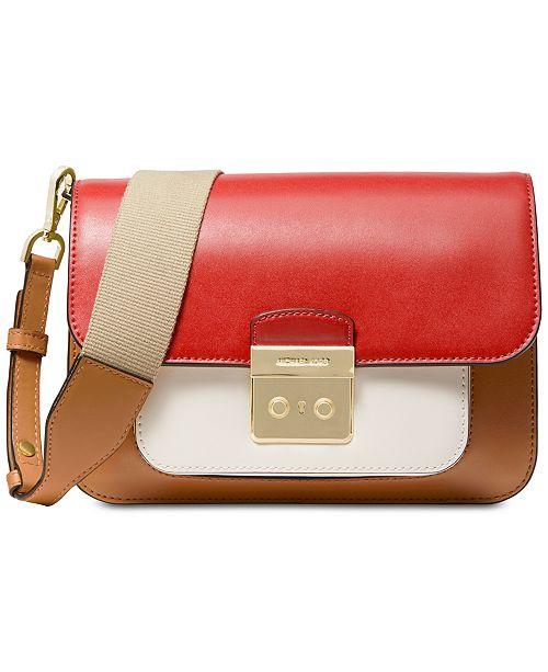 6438e66cd78b Michael Kors Sloan Editor Colorblock Leather Shoulder Bag   Reviews ...