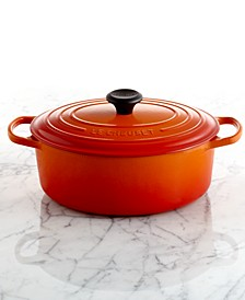 Signature Enameled Cast Iron 5 Qt. Oval French Oven