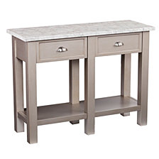 Earlington Faux Marble Rectangular Console Table