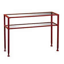 Scottsville Metal and Glass Console Table