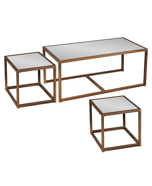 Southern Enterprises Hustbourne Nested Cocktail And End Table 3Pc Set
