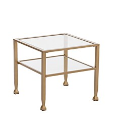 Brookford Gold Metal and Glass Bunching Cocktail Table