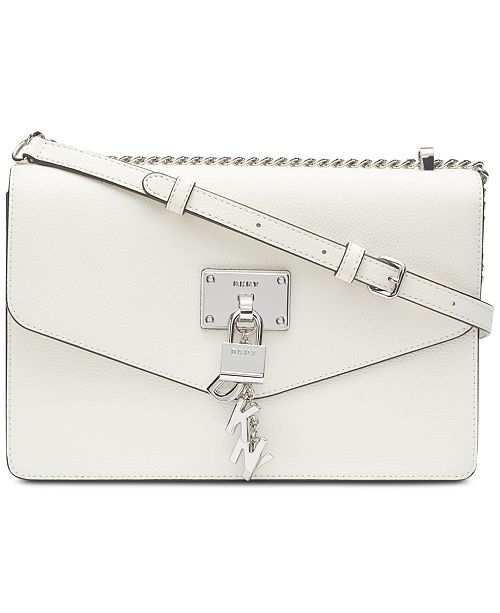 DKNY Elissa Leather Chain Strap Shoulder Bag, Created for Macy's