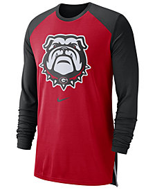 Nike Men's Georgia Bulldogs Breathe Shooter Long Sleeve T-Shirt