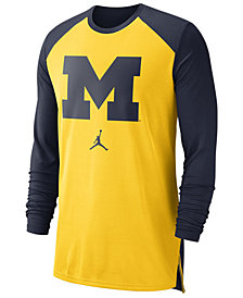 Nike Men's Michigan Wolverines Breathe Shooter Long Sleeve T-Shirt