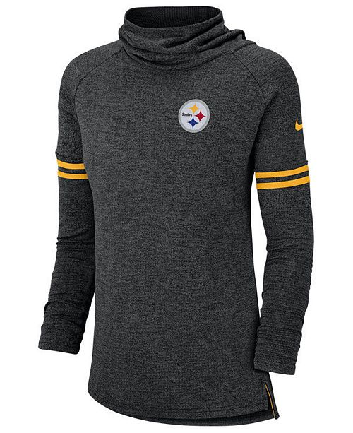 Nike Women's Pittsburgh Steelers Funnel Logo Long Sleeve T-Shirt