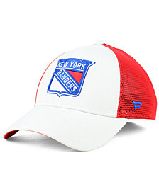 Authentic NHL Headwear New York Rangers Tech Mesh Flex Stretch Fitted Cap