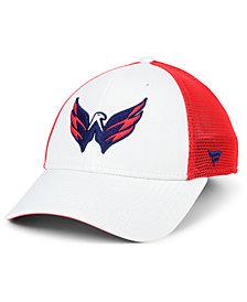 Authentic NHL Headwear Washington Capitals Tech Mesh Flex Stretch Fitted Cap