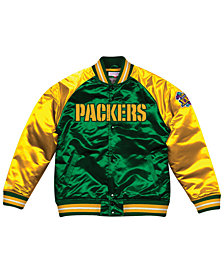 Mitchell & Ness Men's Green Bay Packers Tough Season Satin Jacket
