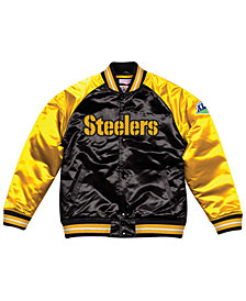 Mitchell & Ness Men's Pittsburgh Steelers Tough Season Satin Jacket