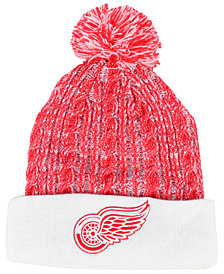 Authentic NHL Headwear Women's Detroit Red Wings Iconic Ace Knit Hat