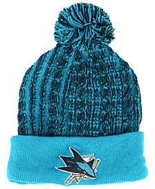 Authentic NHL Headwear Women's San Jose Sharks Iconic Ace Knit Hat