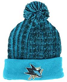 Authentic NHL Headwear Women's San Jose Sharks Iconic Ace Knit Hat