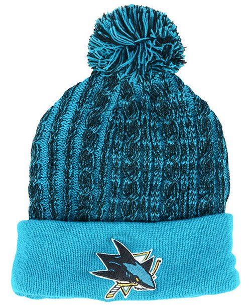 huge selection of 998d5 7379b ... Hat  Authentic NHL Headwear Women s San Jose Sharks Iconic Ace Knit ...