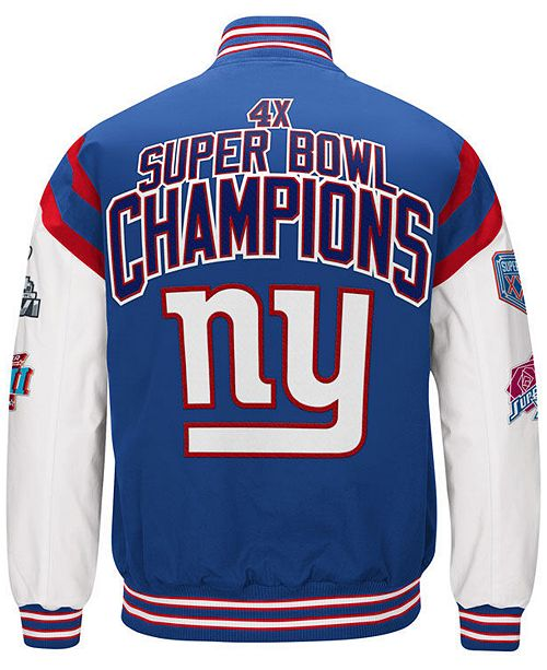 Authentic NFL Apparel Men's New York Giants Home Team Varsity Jacket  free shipping