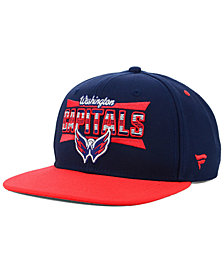 Authentic NHL Headwear Washington Capitals Combo Emblem Snapback Cap