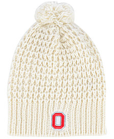 Top of the World Women's Ohio State Buckeyes Slouch Pom Knit Hat