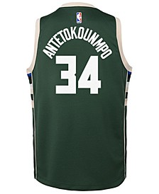 Giannis Antetokounmpo Milwaukee Bucks Icon Replica Jersey, Little Boys (4-7)
