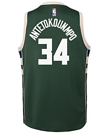 Nike Giannis Antetokounmpo Milwaukee Bucks Icon Replica Jersey, Little Boys (4-7)