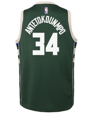 Nike Giannis Antetokounmpo Milwaukee Bucks Icon Replica Jersey, Little Boys (4-7)