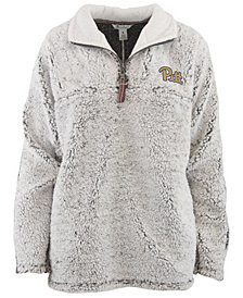 Pressbox Women's Pittsburgh Panthers Sherpa Quarter-Zip Pullover
