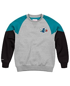 Mitchell & Ness Men's Charlotte Hornets Trading Block Crew Sweatshirt