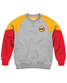 Mitchell & Ness Men's Houston Rockets Trading Block Crew Sweatshirt