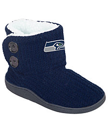 Forever Collectibles Women's Seattle Seahawks Knit Two Button Boots