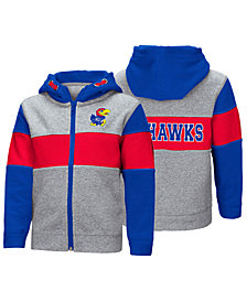 Colosseum Kansas Jayhawks Colorblocked Full-Zip Sweatshirt, Toddler Boys (2T-4T)