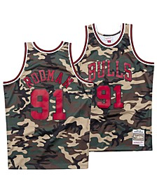 Men's Dennis Rodman Chicago Bulls Woodland Camo Swingman Jersey