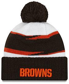New Era Cleveland Browns Thanksgiving Pom Knit Hat