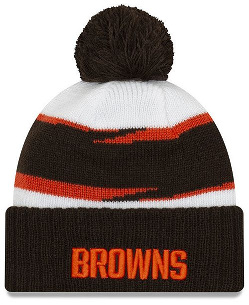 New Era Cleveland Browns Thanksgiving Pom Knit Hat - Sports Fan Shop ... ca5146d4aee3