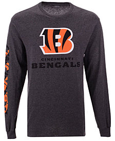 Authentic NFL Apparel Men's Cincinnati Bengals Streak Route Long Sleeve T-Shirt