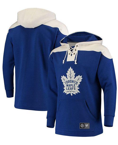 Majestic Men's Toronto Maple Leafs Breakaway Lace Up Hoodie