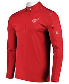 Majestic Men's Detroit Red Wings Ultra Streak Half-Zip Pullover