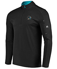 Majestic Men's San Jose Sharks Ultra Streak Half-Zip Pullover