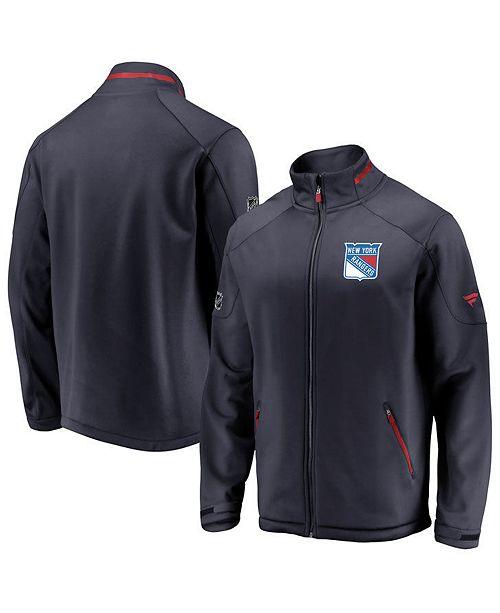 Majestic Men's New York Rangers Rinkside Authentic Pro Jacket
