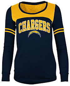 5th & Ocean Women's San Diego Chargers Sleeve Stripe Long Sleeve T-Shirt