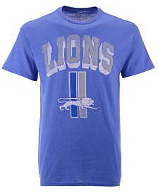 Authentic NFL Apparel Men's Detroit Lions Shadow Arch Retro T-Shirt