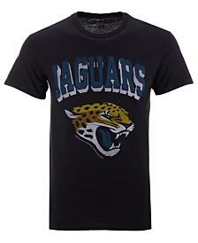 Authentic NFL Apparel Men's Jacksonville Jaguars NFL Shadow Arch Retro T-shirt