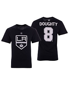 Majestic Men's Drew Doughty Los Angeles Kings Authentic Stack Name & Number T-Shirt