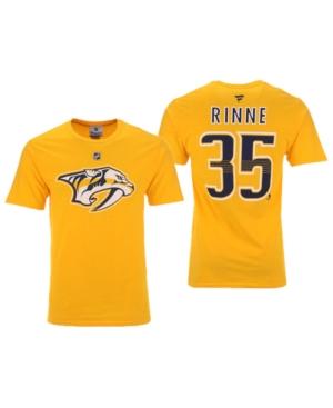 Men's Pekka Rinne Nashville Predators Authentic Stack Name & Number T-Shirt