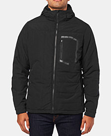 Fox Mens Zip-Front Hooded Coat