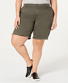 Plus Size Released Hem Shorts, Created by Macy's
