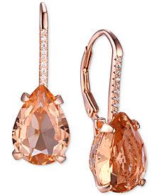 Tiara Cubic Zirconia Teardrop Drop Earrings in Sterling Silver