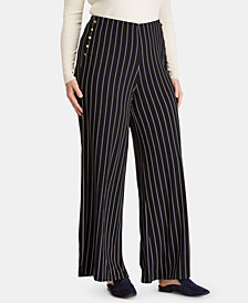 Lauren Ralph Lauren Plus Size Button-Trim Pants