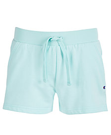 Champion Little Girls French Terry Side-Script Logo Shorts
