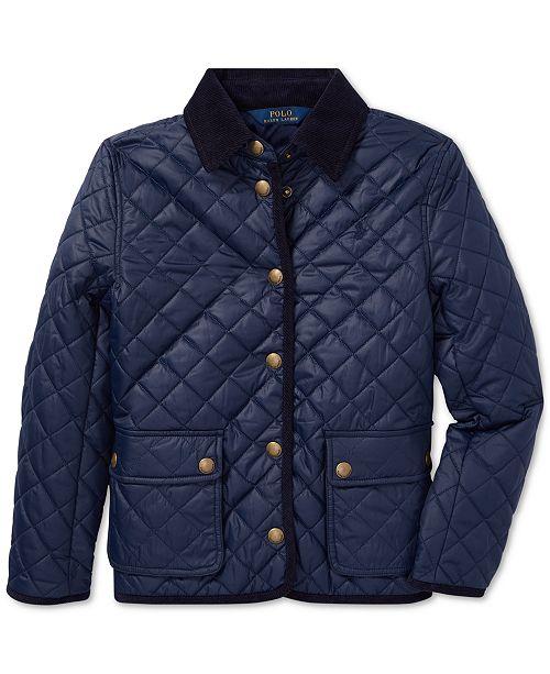 e54e6e2d3 Polo Ralph Lauren Big Girls Quilted Barn Jacket   Reviews - Coats ...