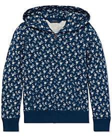Polo Ralph Lauren Big Girls Floral-Print Cotton Hoodie
